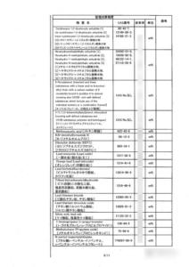 鋼材中の特定化学物質含有情報シートの例6